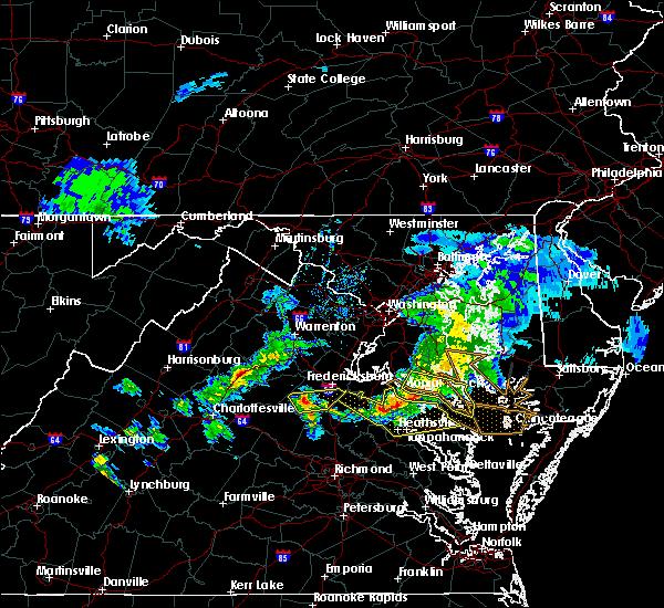 Radar Image for Severe Thunderstorms near Warsaw, VA at 4/7/2020 4:22 PM EDT