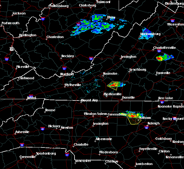 Radar Image for Severe Thunderstorms near Union Hall, VA at 6/25/2015 4:55 PM EDT