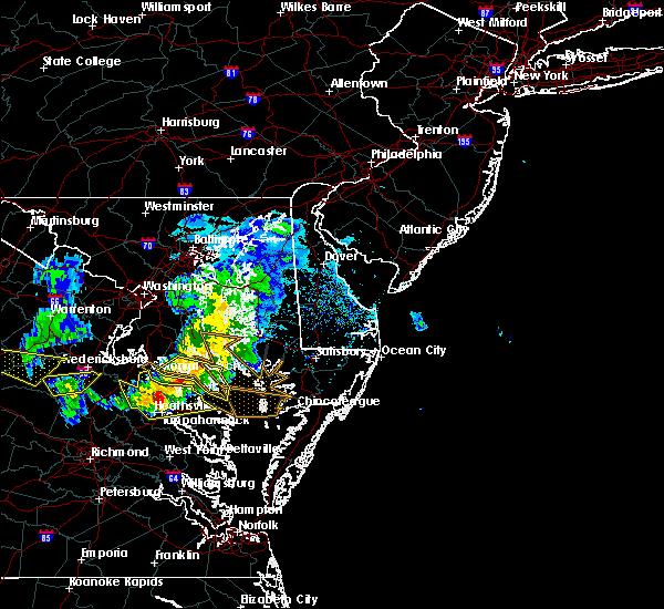 Radar Image for Severe Thunderstorms near Warsaw, VA at 4/7/2020 4:33 PM EDT