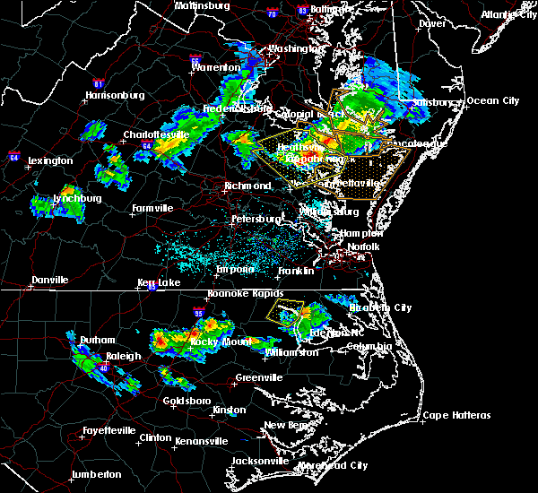 Radar Image for Severe Thunderstorms near Winton, NC at 4/7/2020 4:57 PM EDT