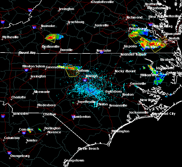 Radar Image for Severe Thunderstorms near Durham, NC at 6/25/2015 5:00 PM EDT