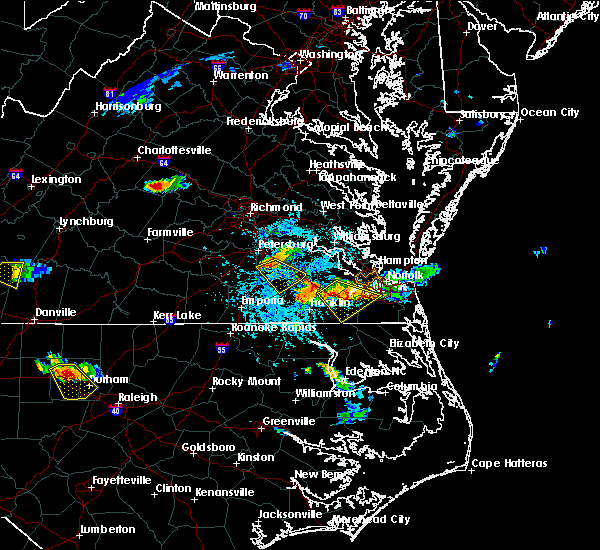 Radar Image for Severe Thunderstorms near Sussex, VA at 6/25/2015 4:59 PM EDT