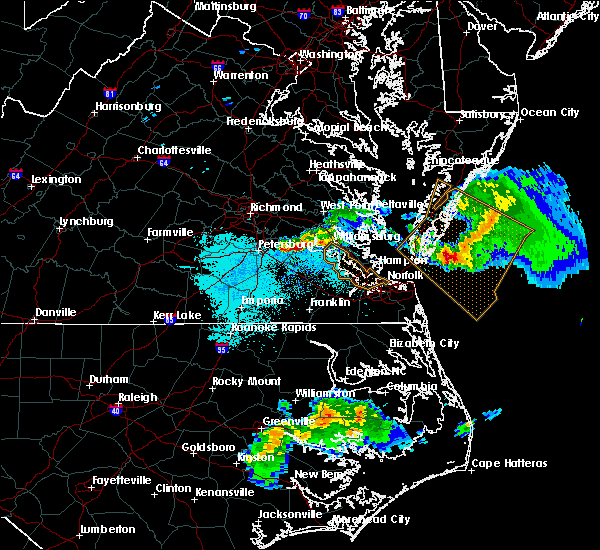 Radar Image for Severe Thunderstorms near Wakefield, VA at 4/7/2020 6:50 PM EDT