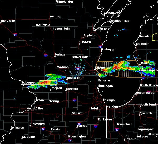 Radar Image for Severe Thunderstorms near Brodhead, WI at 4/7/2020 5:54 PM CDT