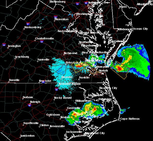 Radar Image for Severe Thunderstorms near Claremont, VA at 4/7/2020 7:05 PM EDT