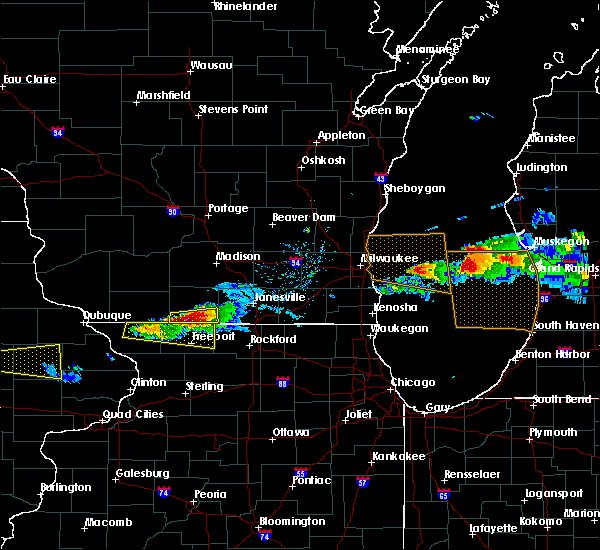 Radar Image for Severe Thunderstorms near Brodhead, WI at 4/7/2020 6:10 PM CDT