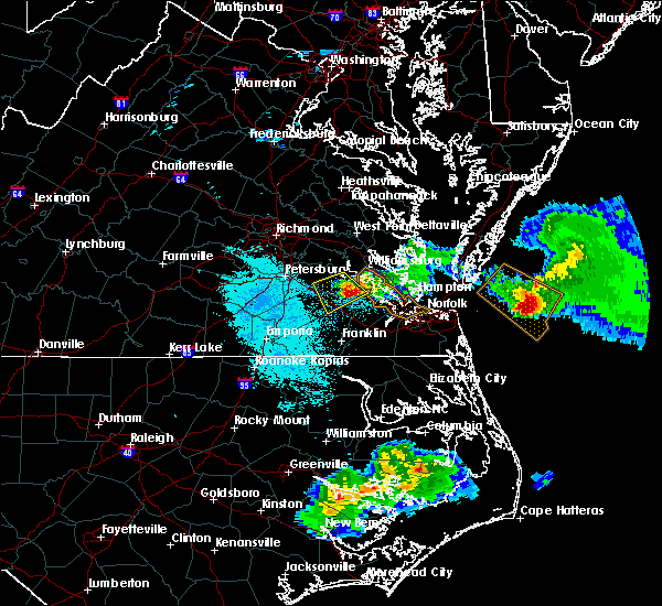 Radar Image for Severe Thunderstorms near Claremont, VA at 4/7/2020 7:13 PM EDT