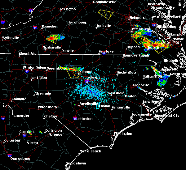 Radar Image for Severe Thunderstorms near Durham, NC at 6/25/2015 5:12 PM EDT