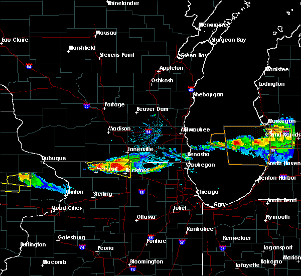 Radar Image for Severe Thunderstorms near Rockton, IL at 4/7/2020 6:50 PM CDT