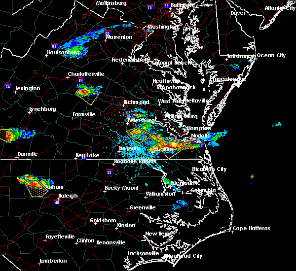 Radar Image for Severe Thunderstorms near Chesapeake, VA at 6/25/2015 5:12 PM EDT