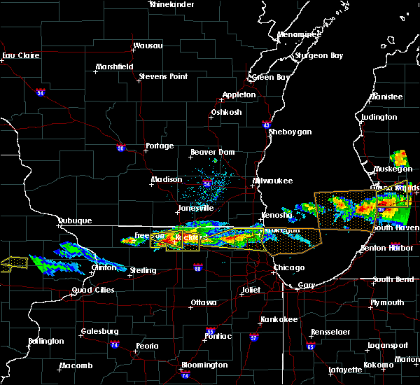 Radar Image for Severe Thunderstorms near German Valley, IL at 4/7/2020 7:21 PM CDT