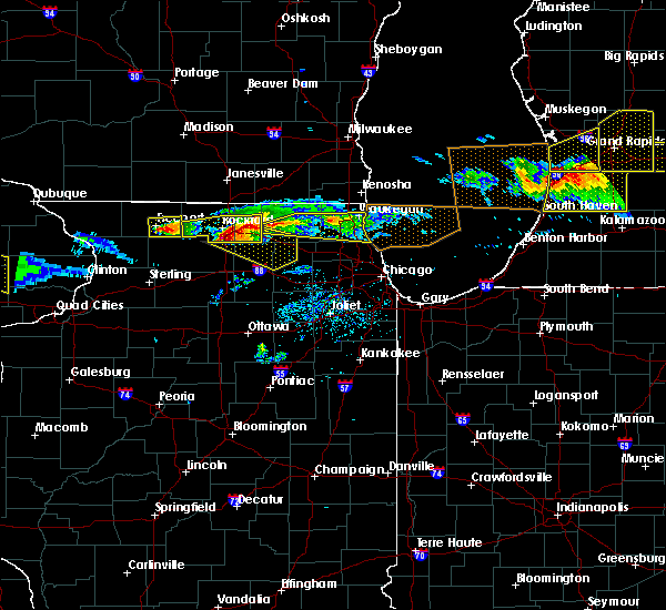 Radar Image for Severe Thunderstorms near DeKalb, IL at 4/7/2020 7:30 PM CDT