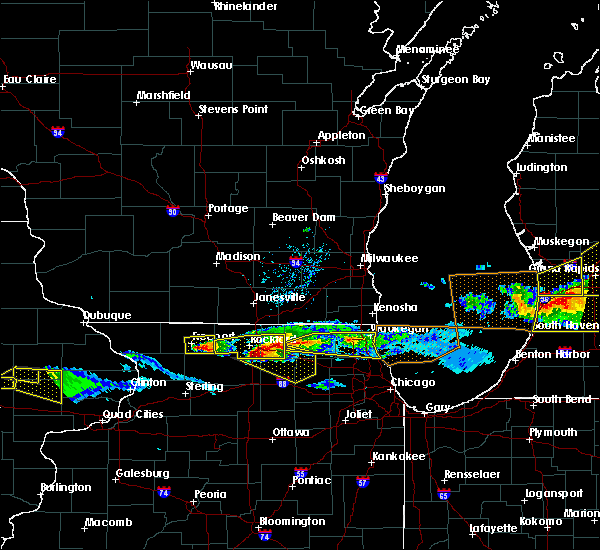 Radar Image for Severe Thunderstorms near German Valley, IL at 4/7/2020 7:32 PM CDT