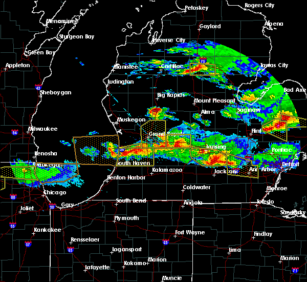 Radar Image for Severe Thunderstorms near Canadian Lakes, MI at 4/7/2020 8:39 PM EDT