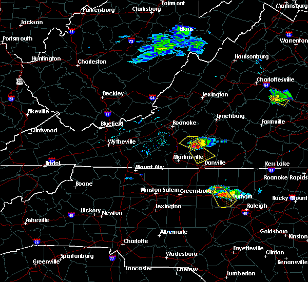 Radar Image for Severe Thunderstorms near Blairs, VA at 6/25/2015 5:16 PM EDT
