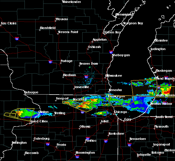 Radar Image for Severe Thunderstorms near New Milford, IL at 4/7/2020 7:47 PM CDT