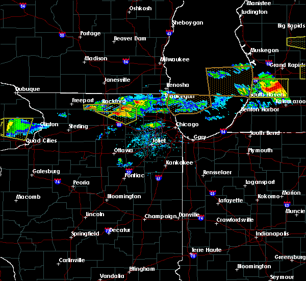 Radar Image for Severe Thunderstorms near DeKalb, IL at 4/7/2020 7:48 PM CDT