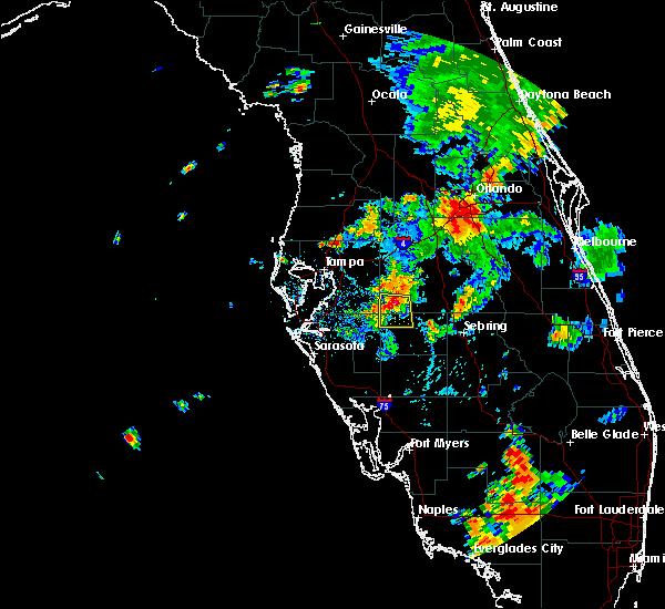 Radar Image for Severe Thunderstorms near Fort Green, FL at 6/25/2015 5:20 PM EDT