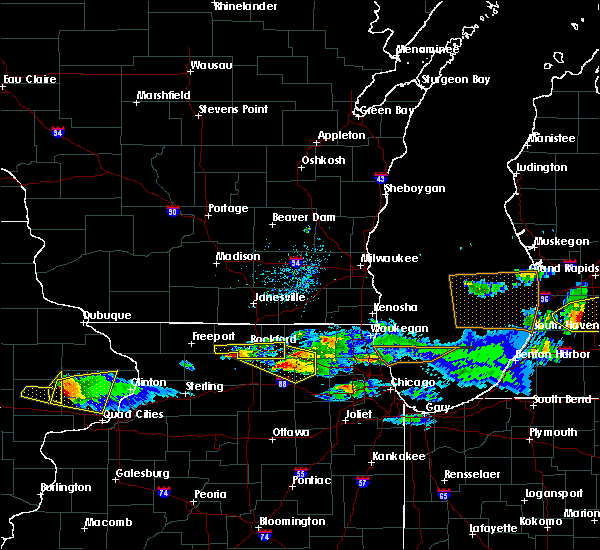Radar Image for Severe Thunderstorms near New Milford, IL at 4/7/2020 7:56 PM CDT