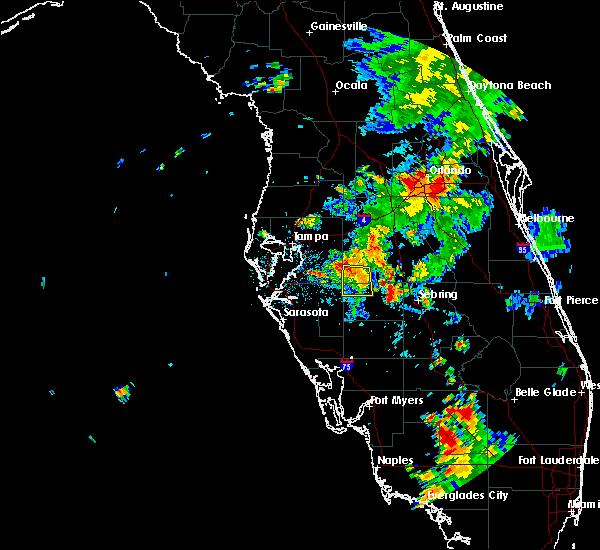 Radar Image for Severe Thunderstorms near Fort Green, FL at 6/25/2015 5:29 PM EDT