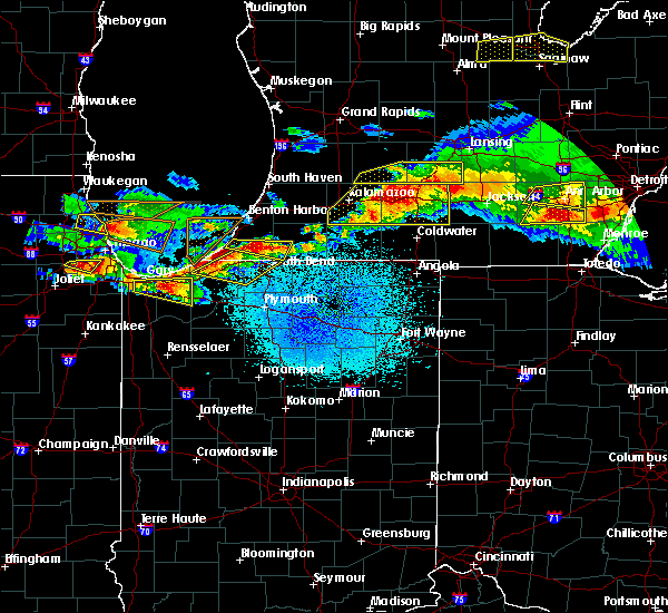 Radar Image for Severe Thunderstorms near Fish Lake, IN at 4/7/2020 9:39 PM EDT
