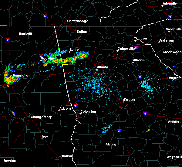Radar Image for Severe Thunderstorms near Cedartown, GA at 6/25/2015 5:28 PM EDT
