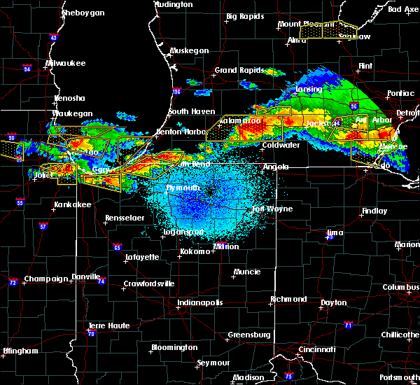Radar Image for Severe Thunderstorms near Niles, MI at 4/7/2020 9:45 PM EDT