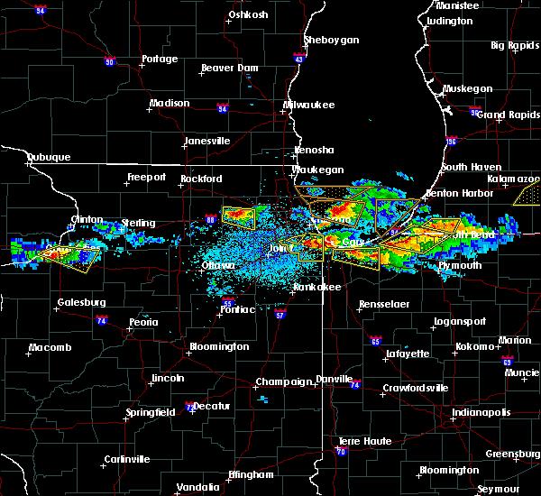 Radar Image for Severe Thunderstorms near Batavia, IL at 4/7/2020 8:57 PM CDT