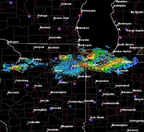Radar Image for Severe Thunderstorms near Aberdeen, IN at 4/7/2020 8:58 PM CDT