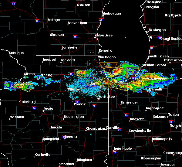 Radar Image for Severe Thunderstorms near Dixmoor, IL at 4/7/2020 9:03 PM CDT