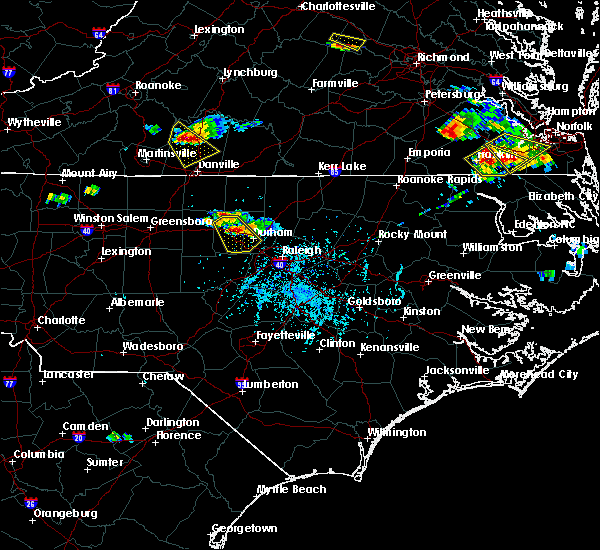 Radar Image for Severe Thunderstorms near Carrboro, NC at 6/25/2015 5:32 PM EDT
