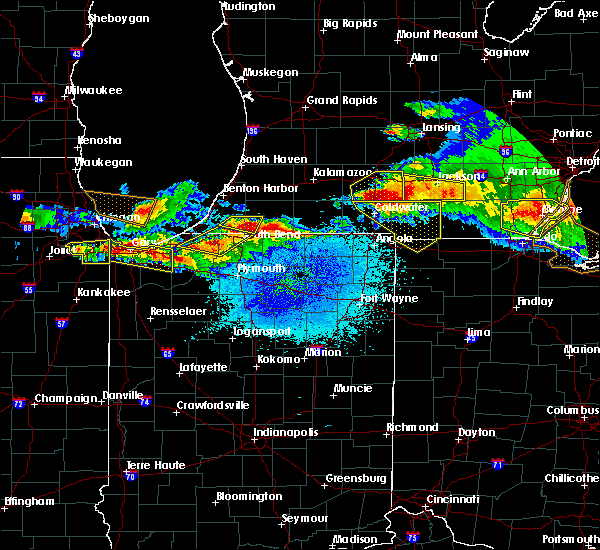 Radar Image for Severe Thunderstorms near Edwardsburg, MI at 4/7/2020 10:11 PM EDT