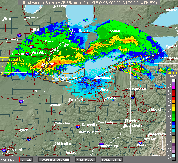 Radar Image for Severe Thunderstorms near Wightmans Grove, OH at 4/7/2020 10:20 PM EDT