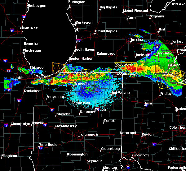 Radar Image for Severe Thunderstorms near Kingsbury, IN at 4/7/2020 9:44 PM CDT