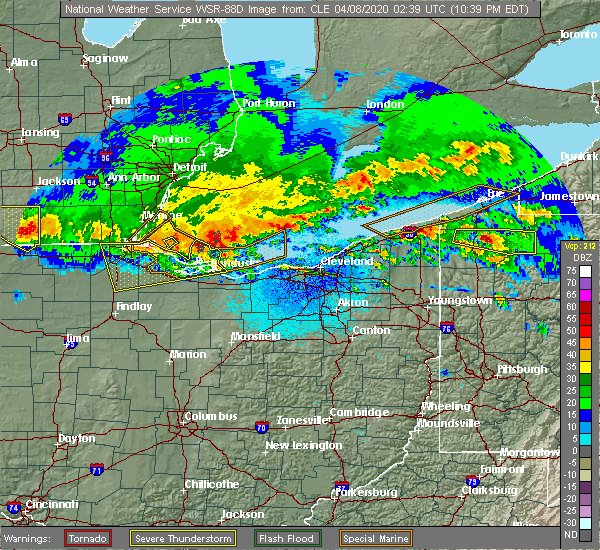 Radar Image for Severe Thunderstorms near Wightmans Grove, OH at 4/7/2020 10:44 PM EDT