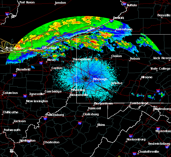 Radar Image for Severe Thunderstorms near Titusville, PA at 4/7/2020 10:50 PM EDT