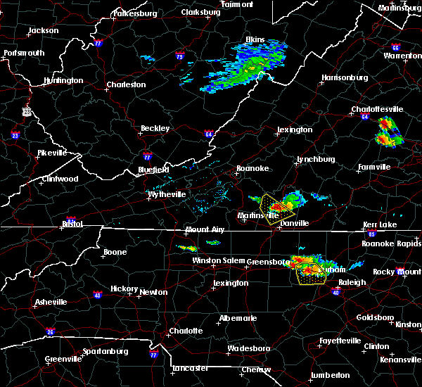 Radar Image for Severe Thunderstorms near Blairs, VA at 6/25/2015 5:41 PM EDT