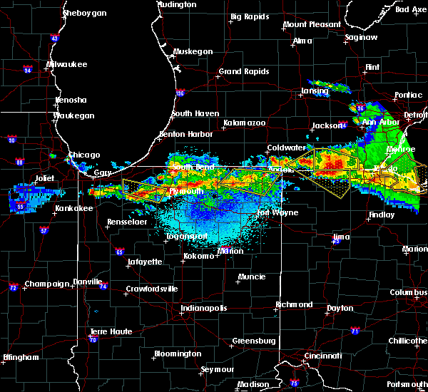 Radar Image for Severe Thunderstorms near Walkerton, IN at 4/7/2020 10:06 PM CDT