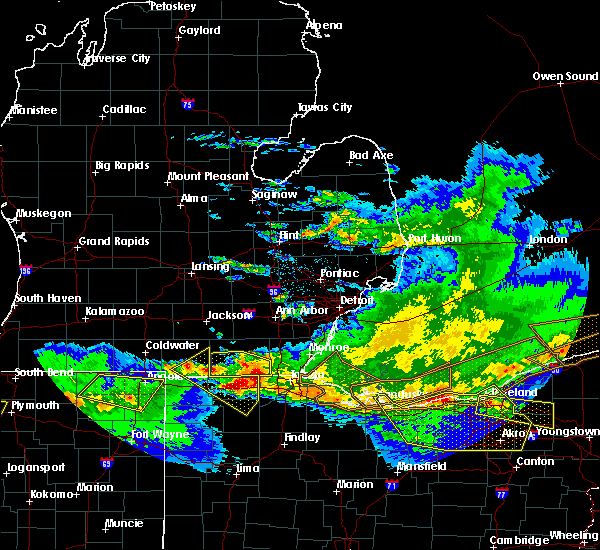 Radar Image for Severe Thunderstorms near Swanton, OH at 4/7/2020 11:16 PM EDT