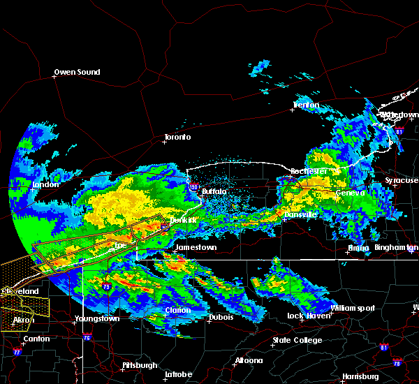 Radar Image for Severe Thunderstorms near Panama, NY at 4/7/2020 11:17 PM EDT
