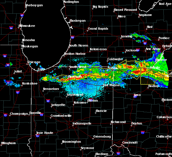 Radar Image for Severe Thunderstorms near Walkerton, IN at 4/7/2020 10:23 PM CDT