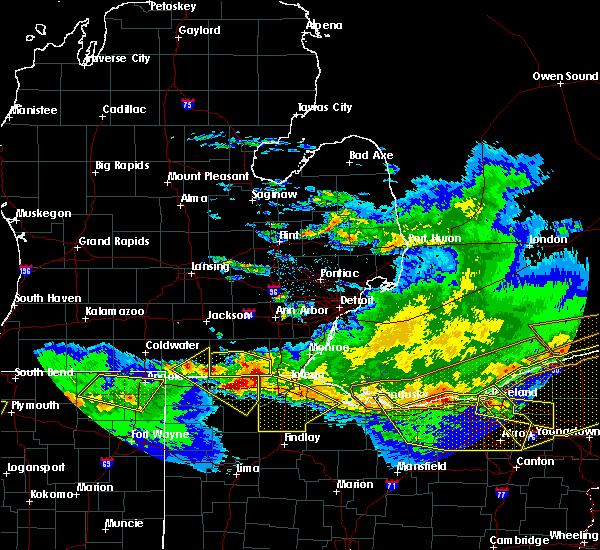 Radar Image for Severe Thunderstorms near Jasper, MI at 4/7/2020 11:23 PM EDT
