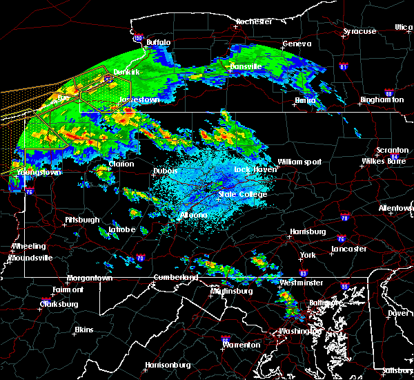 Radar Image for Severe Thunderstorms near Marienville, PA at 4/7/2020 11:30 PM EDT