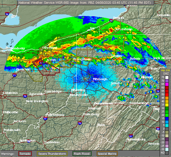 Radar Image for Severe Thunderstorms near Cherry Valley, PA at 4/7/2020 11:50 PM EDT