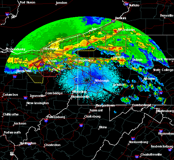 Radar Image for Severe Thunderstorms near Titusville, PA at 4/7/2020 11:54 PM EDT