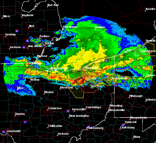 Radar Image for Severe Thunderstorms near Aquilla, OH at 4/7/2020 11:55 PM EDT