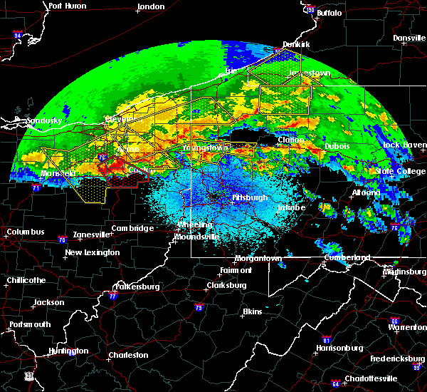 Radar Image for Severe Thunderstorms near South Canal, OH at 4/8/2020 12:14 AM EDT