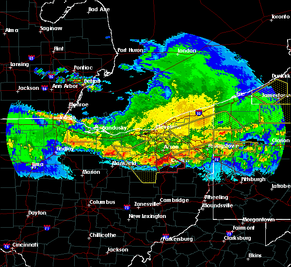 Radar Image for Severe Thunderstorms near Westfield Center, OH at 4/8/2020 12:18 AM EDT
