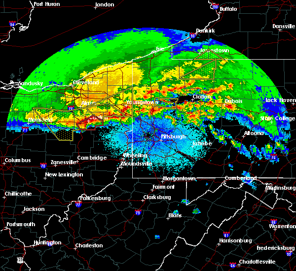 Radar Image for Severe Thunderstorms near Zoar, OH at 4/8/2020 12:26 AM EDT