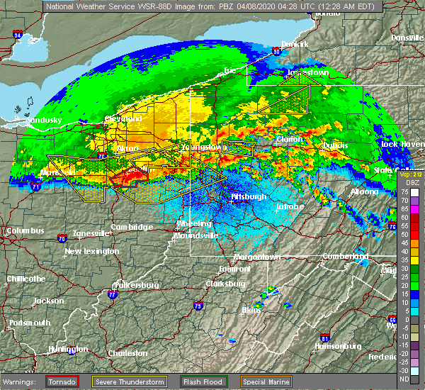 Radar Image for Severe Thunderstorms near Fairview, PA at 4/8/2020 12:33 AM EDT